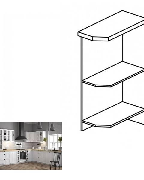 Kondela Dolná skrinka s dvomi policami D25PZ pravá biela PROVANCE