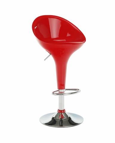 Barová stolička červená/chróm ALBA NOVA