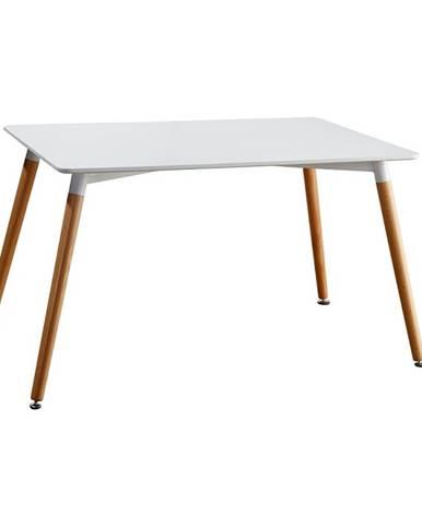 Jedálenský stôl biela/buk DIDIER 4 NEW poškodený tovar