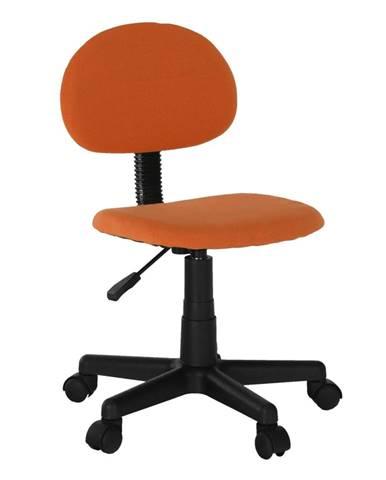 Kancelárska stolička čierna/oranžová SALIM