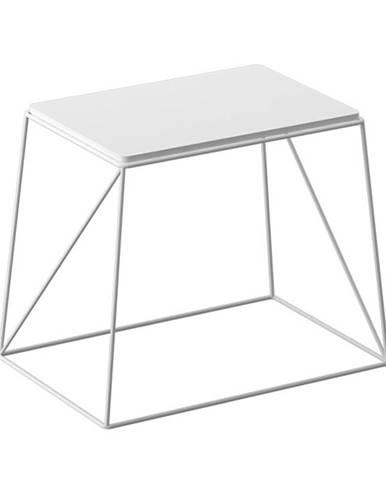Príručný stolík biela KAREL - tovar 2.triedy