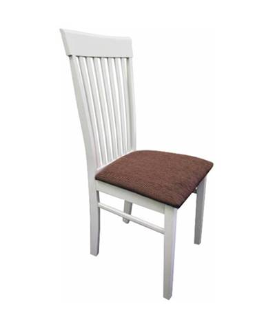 Stolička biela/hnedá látka ASTRO poškodený tovar