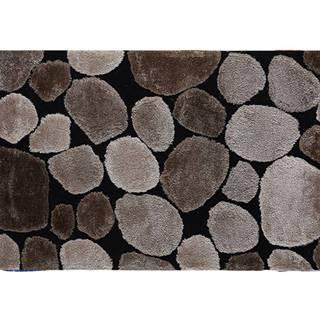 Koberec hnedá/čierna 140x200 PEBBLE TYP 2