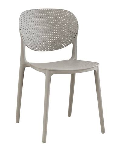 Stohovateľná stolička sivá FEDRA