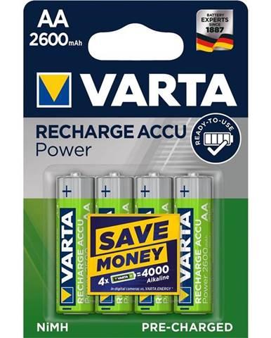Batéria nabíjacie Varta Power, HR06, AA, 2600mAh, Ni-MH, blistr 4ks