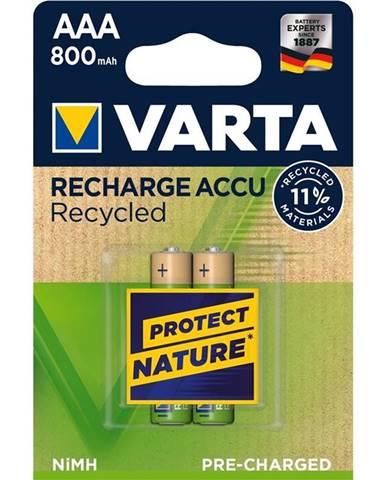 Batéria nabíjacie Varta Recycled HR03, AAA, 800mAh, Ni-MH, blistr
