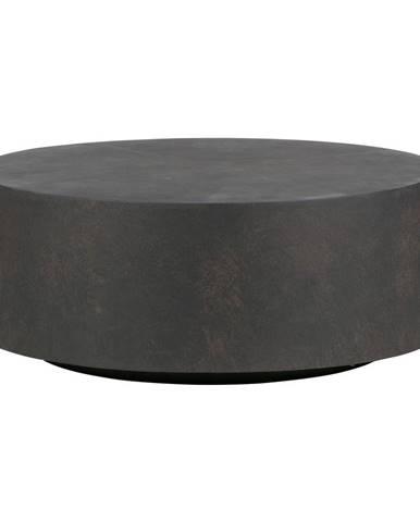 Tmavohnedý konferenčný stolík z vláknitého ílu WOOOD Dean, ø80cm