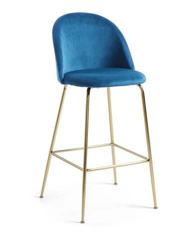 Modrá barová stolička La Forma Mystere, výška 108 cm