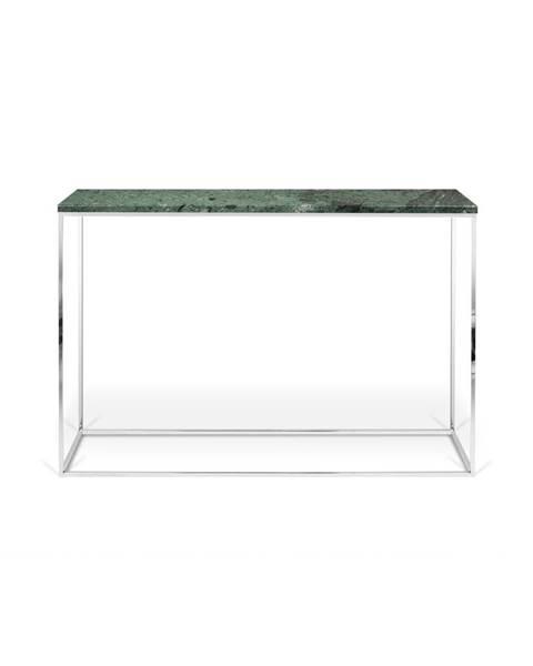 TemaHome Zelený konzolový stolík s mramorovou doskou TemaHome