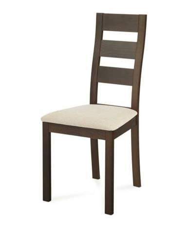 Jedálenská stolička DIANA orech/krémová