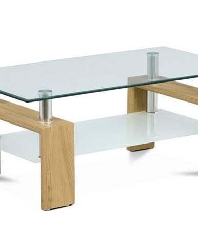 Konferenčný stolík TOLEDO divoký dub/sklo