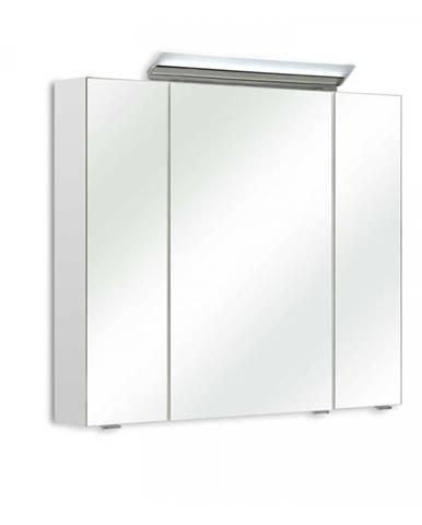 Zrkadlová skrinka s osvetlením FILO 040 biela vysoký lesk