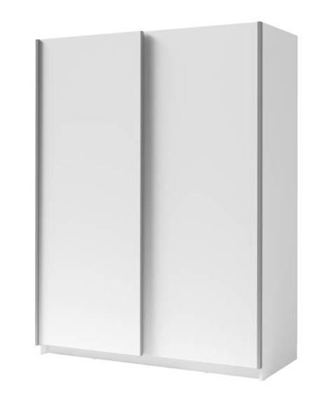 Sconto Šatníková skriňa SPLIT biela, šírka 180 cm