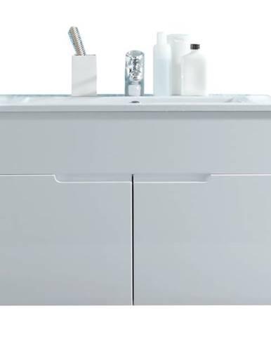 Umývadlová skrinka s umývadlom SPICE biela vysoký lesk