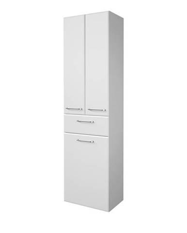 Vysoká kúpelňová skrinka FILO biela vysoký lesk