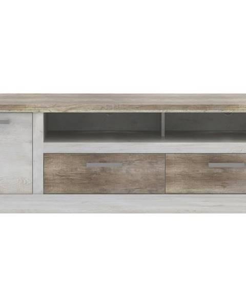 Sconto TV stolík DURO pínia biela/dub antik