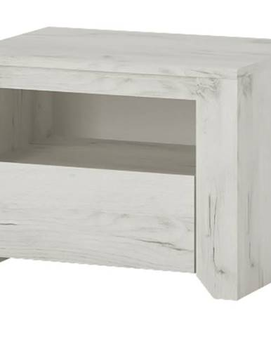 Nočný stolík ANGEL 95 dub craft biely