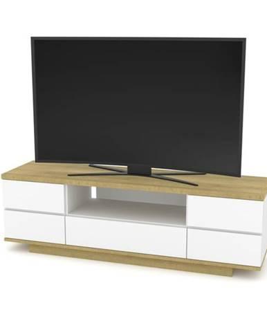 TV stolík DORIAN 2 dub riviera/biela lesklá