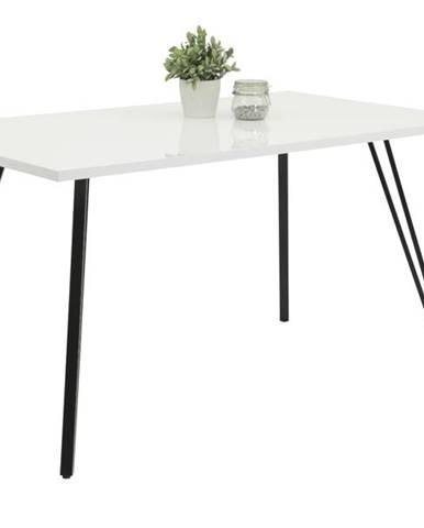 Jedálenský stôl JENNIFER T biela/čierna