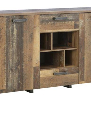 Komoda CLIF vintage wood/betón