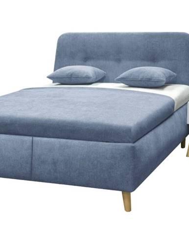 Posteľ s výklopnými roštami ESTELA modrá, 180x200 cm