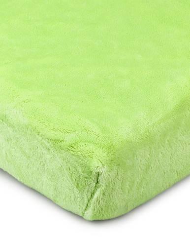 4Home prestieradlo mikroflanel zelená, 90 x 200 cm