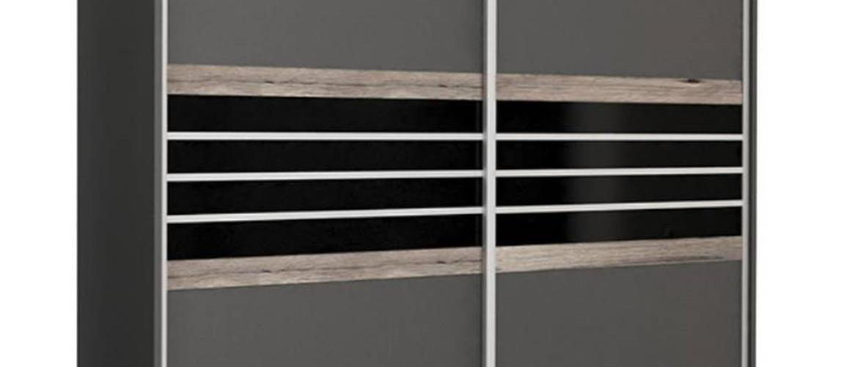 Skriňa Turyn 203 Lava/Čierne sklo